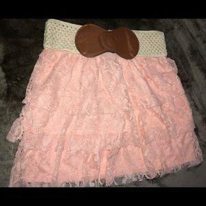 rue 21 lace mini skirt size small